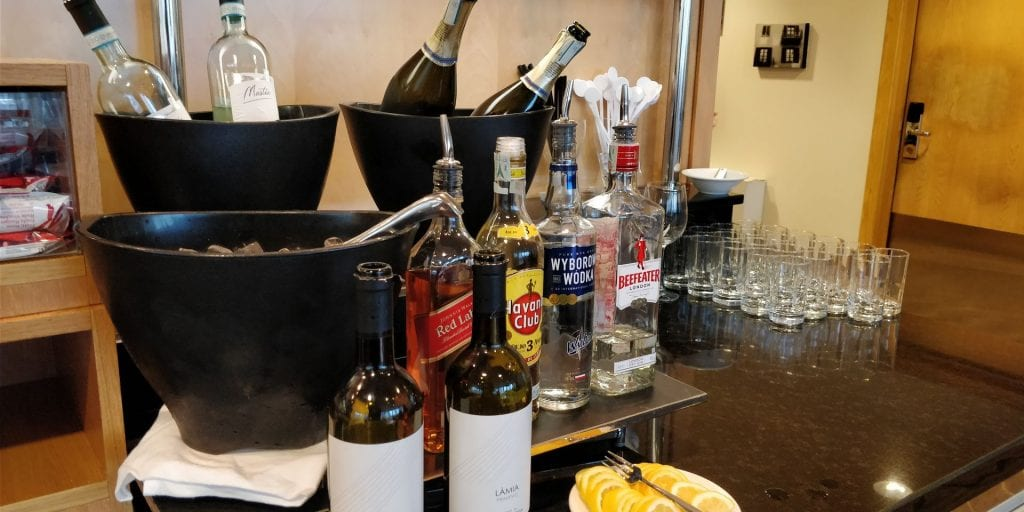 Hilton Milan Executive Lounge Getränke Alkohol