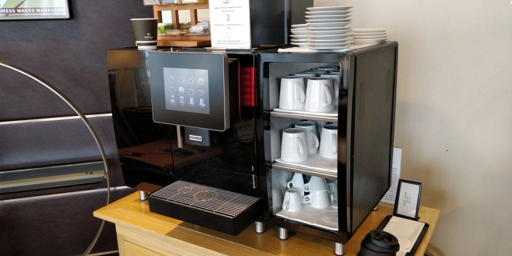 Hilton Milan Executive Lounge Kaffeemaschine