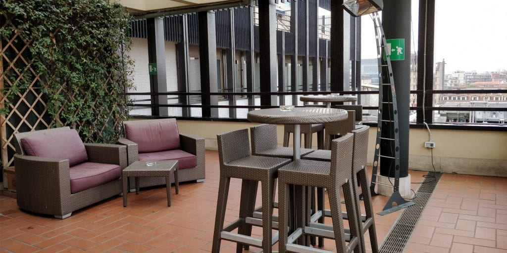 Hilton Milan Executive Lounge Terrasse