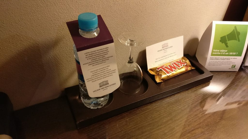 Holiday Inn Paris Elysees Welcome Gift