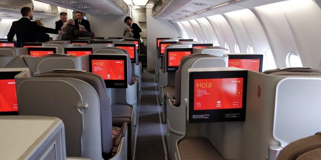 Iberia Business Class Airbus A330 Kabine