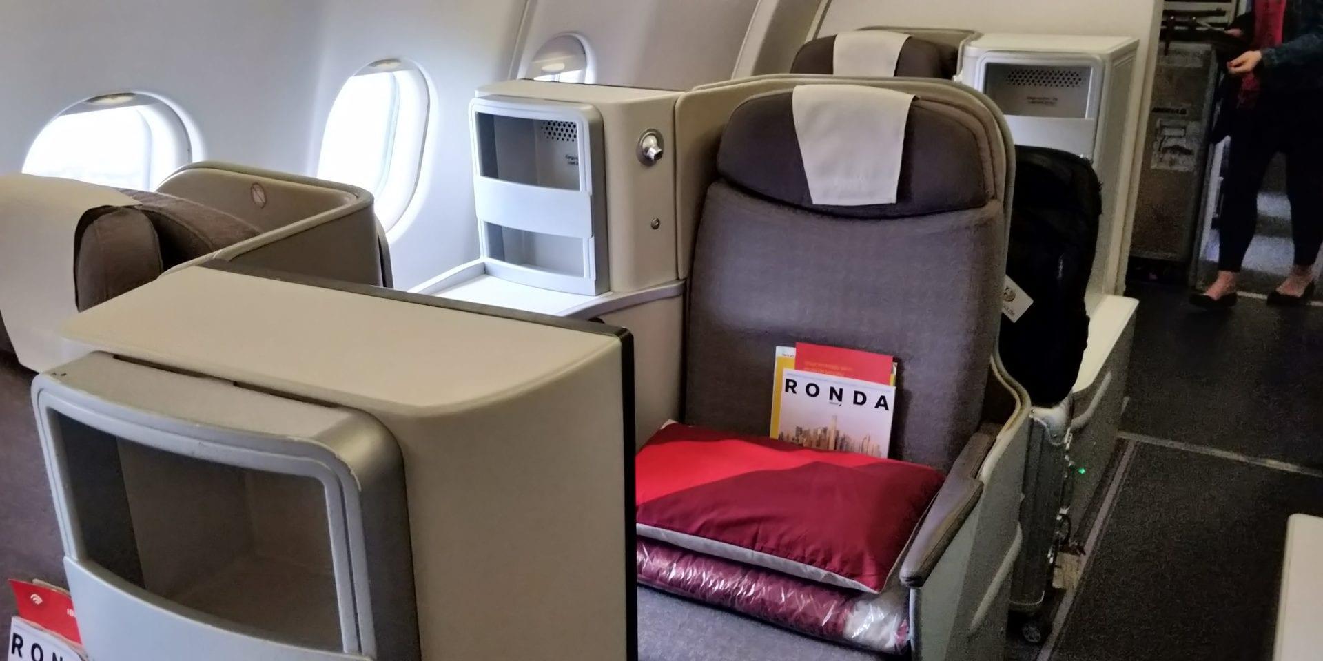 Iberia Business Class Airbus A330 Sitz