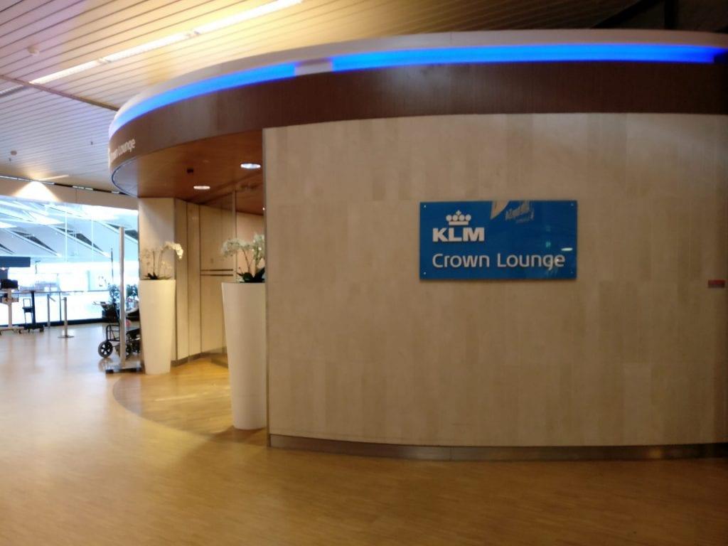 KLM Crown Lounge Amsterdam Non Schengen Entrance