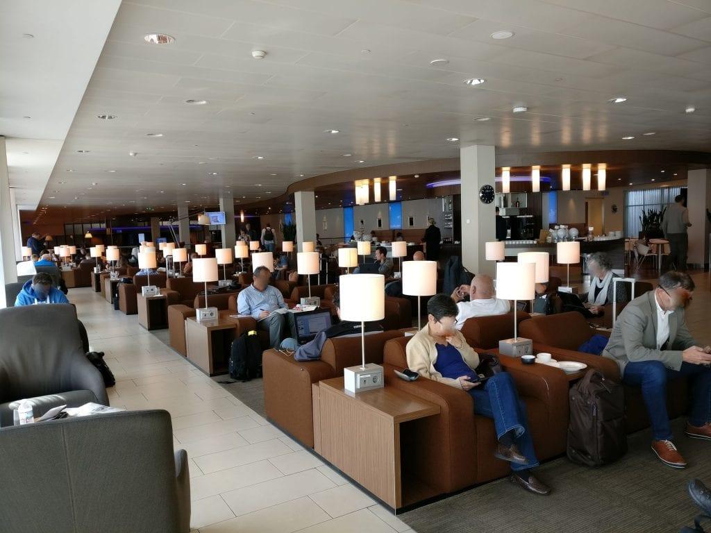 KLM Crown Lounge Amsterdam Non Schengen Seating 2