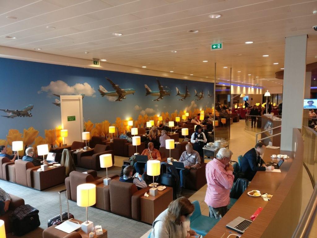 KLM Crown Lounge Amsterdam Non Schengen Seating 3