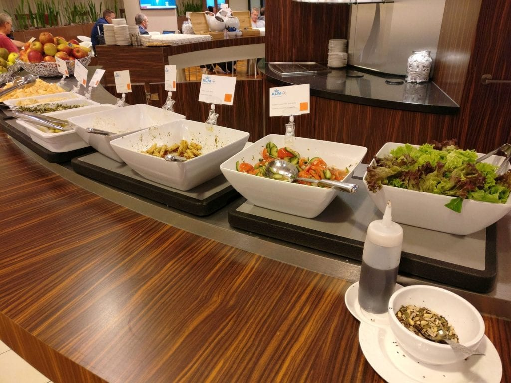 KLM Crown Lounge Amsterdam Schengen Buffet