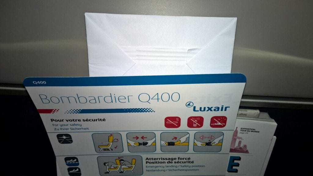 Luxair Economy Class Dash Q400 Entertainment