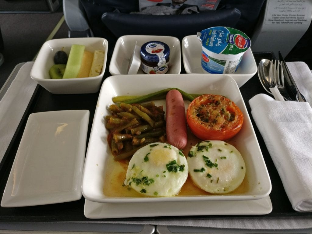 Oman Air Business Class Boeing 737 Breakfast 2