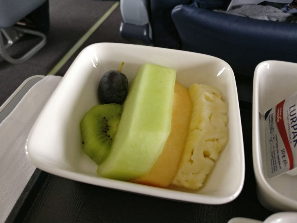 Oman Air Business Class Boeing 737 Breakfast 4