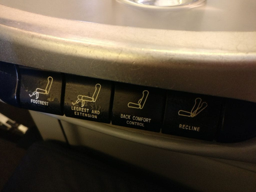 Oman Air Business Class Boeing 737 Controls