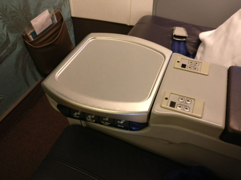 Oman Air Business Class Boeing 737 Seat Console