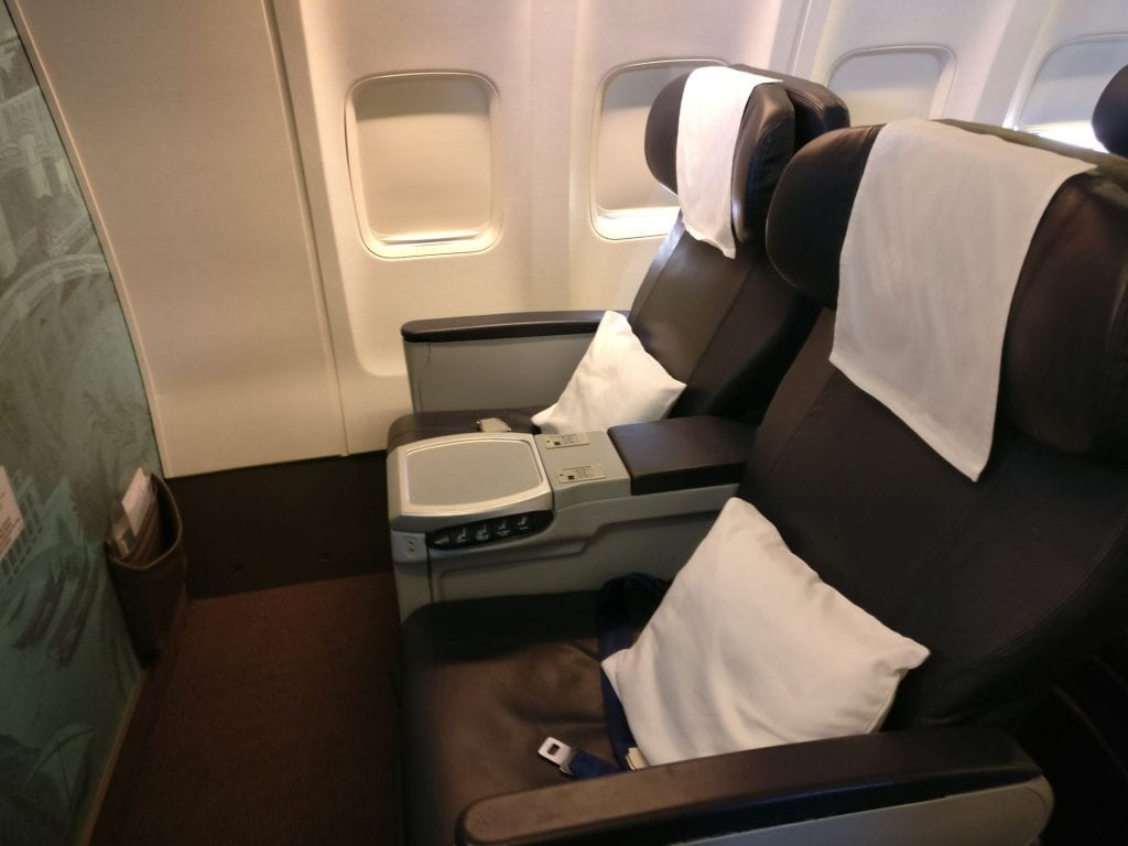 Oman Air Business Class Boeing 737 Seating 2