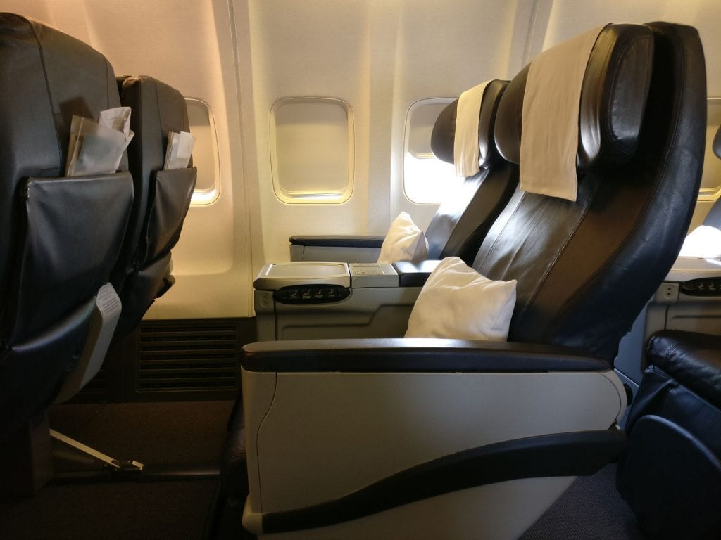 Oman Air Business Class Boeing 737 Seating 4