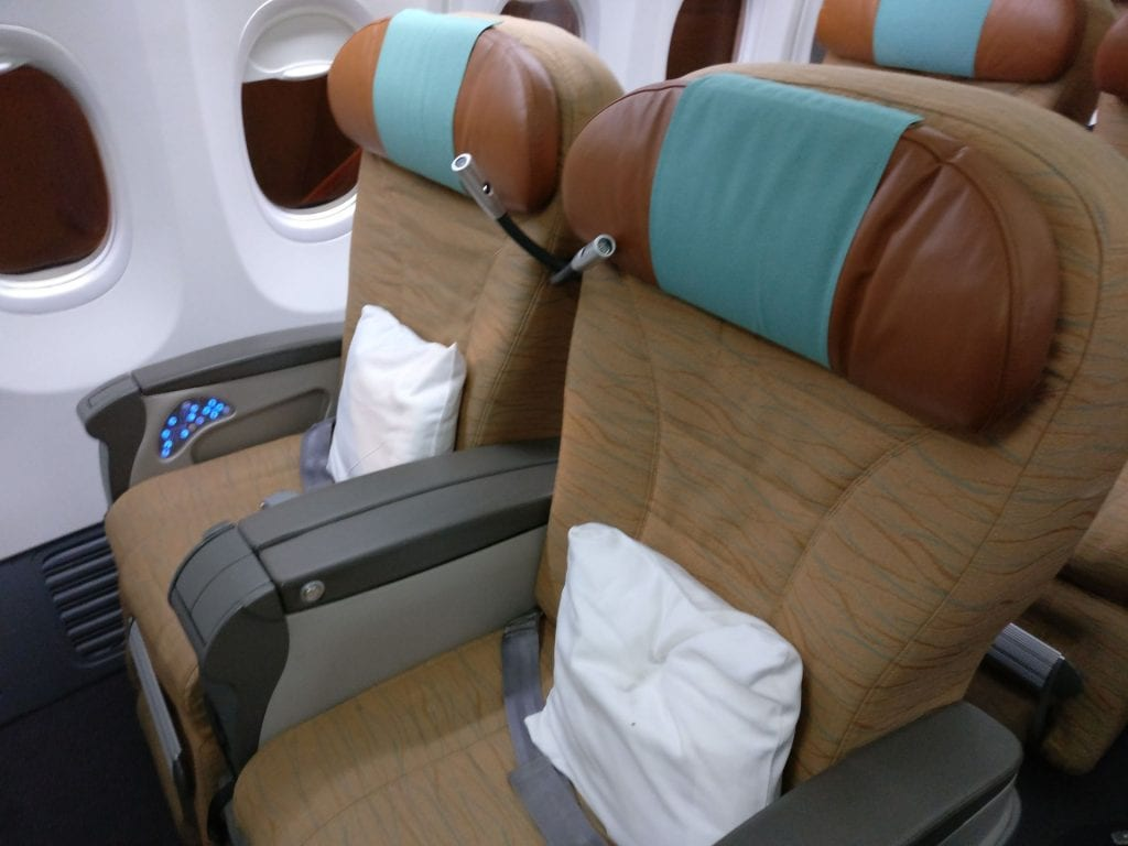 Oman Air Business Class Boeing 737 Seating Alternate
