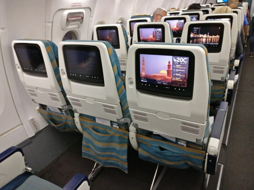 Oman Air Economy Class Boeing 737 3