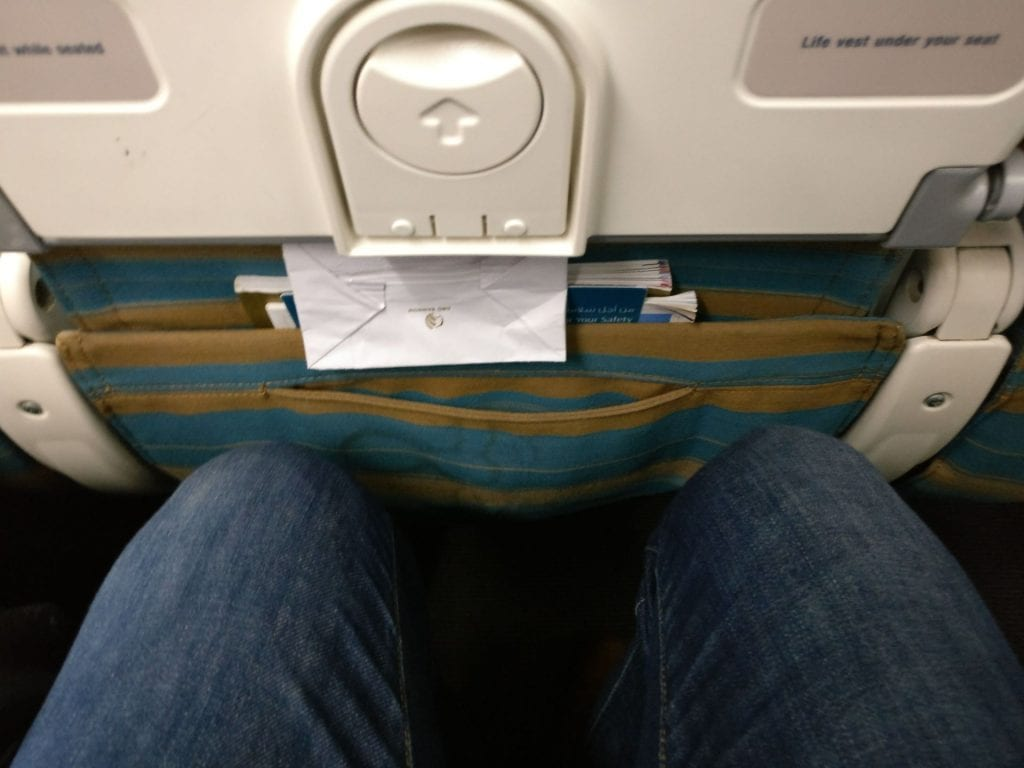 Oman Air Economy Class Boeing 737 Seat Pitch