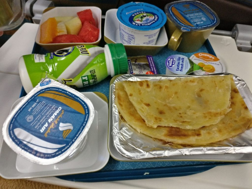Oman Air Economy Class Breakfast