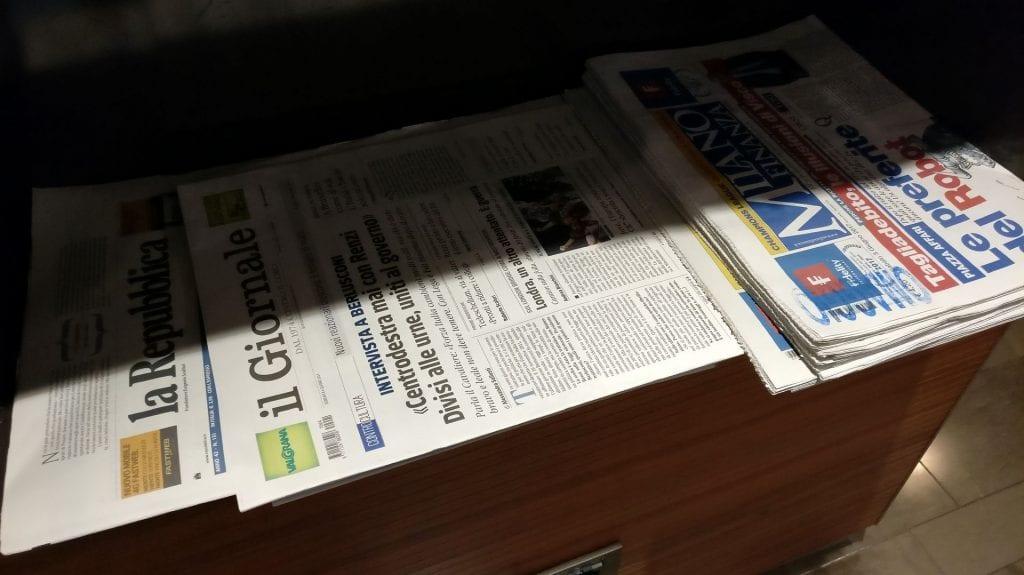 Sala Montale Milan Newspapers