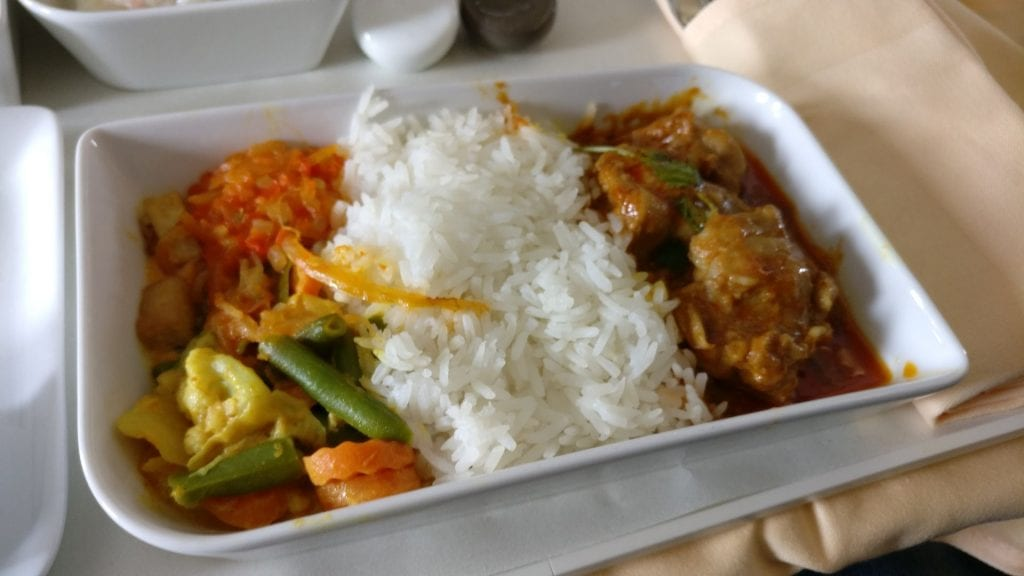 Silk Air Business Class Lunch 2