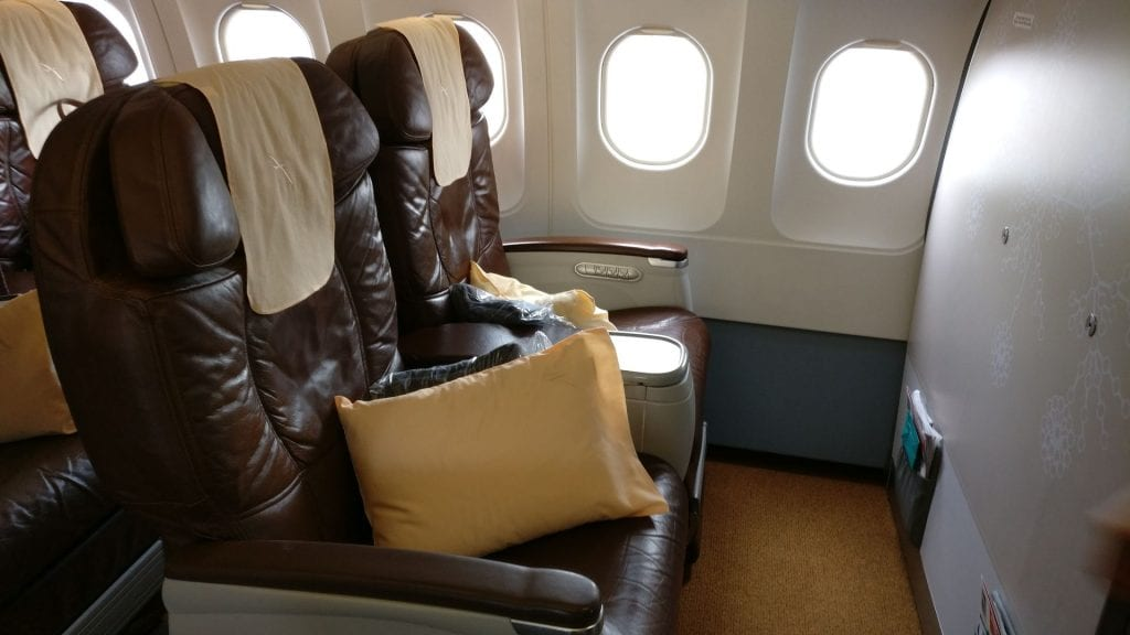 Silk Air Business Class Seat 2