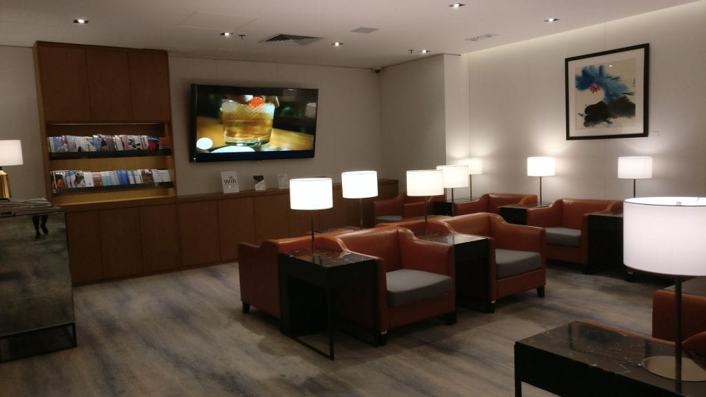 Singapore Airline First Class Lounge Hongkong Seating 2
