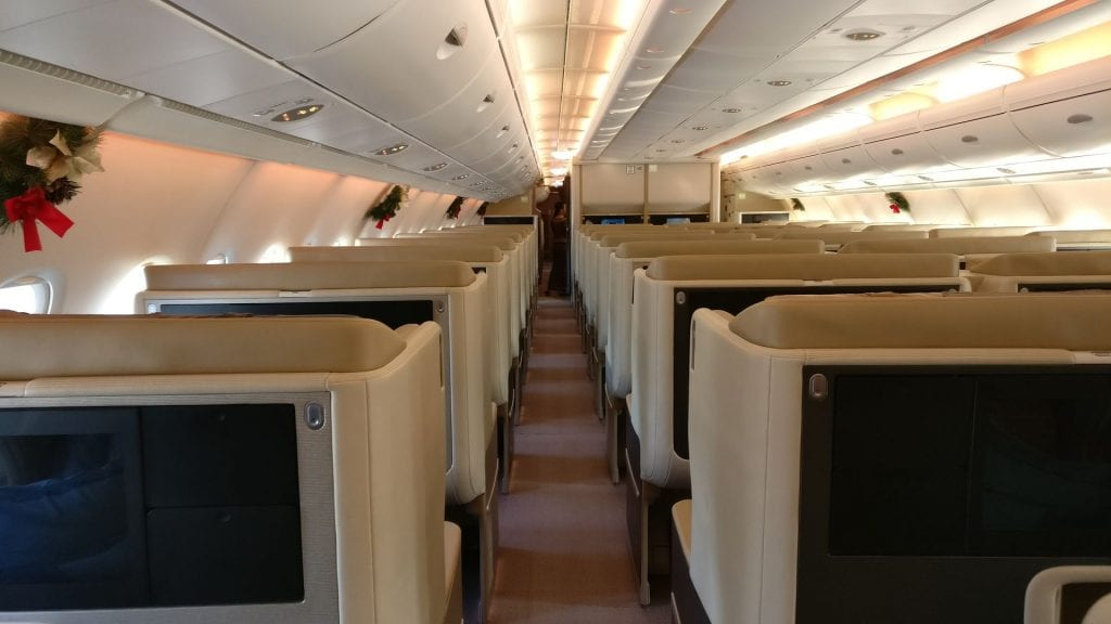 Singapore Airlines Business Class Airbus A380 17