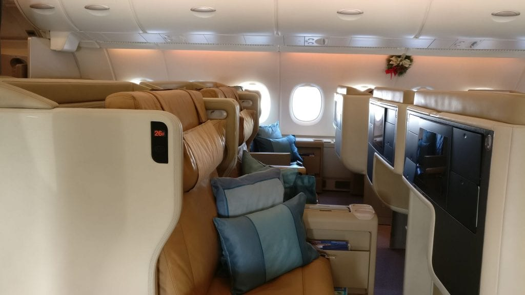 Singapore Airlines Business Class Airbus A380 2