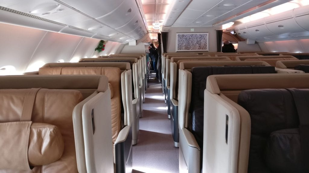 Singapore Airlines Business Class Airbus A380 3