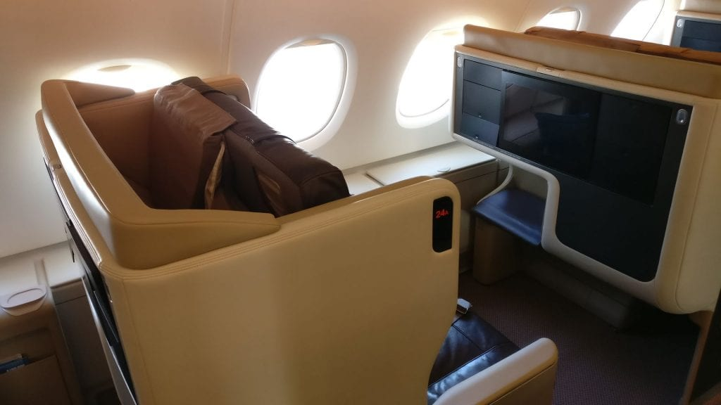 Singapore Airlines Business Class Airbus A380 6