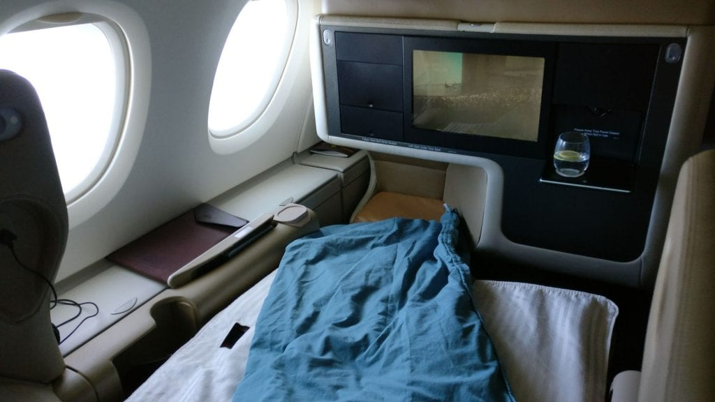Singapore Airlines Business Class Airbus A380 Bed 3
