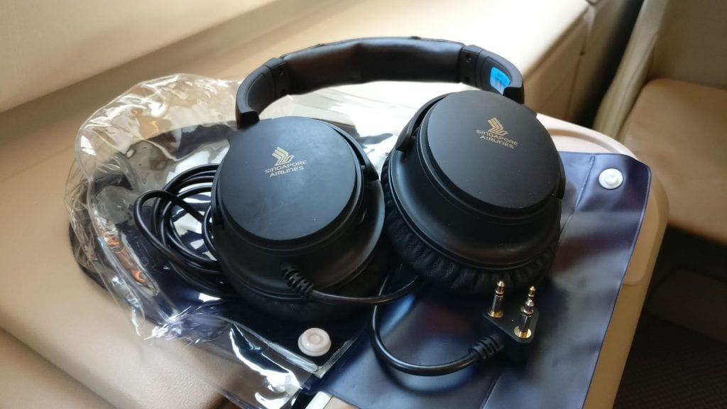 Singapore Airlines Business Class Airbus A380 Headphones