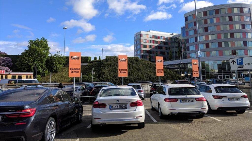 Sixt Diamond Service VIP Parkplätze Stuttgart STR
