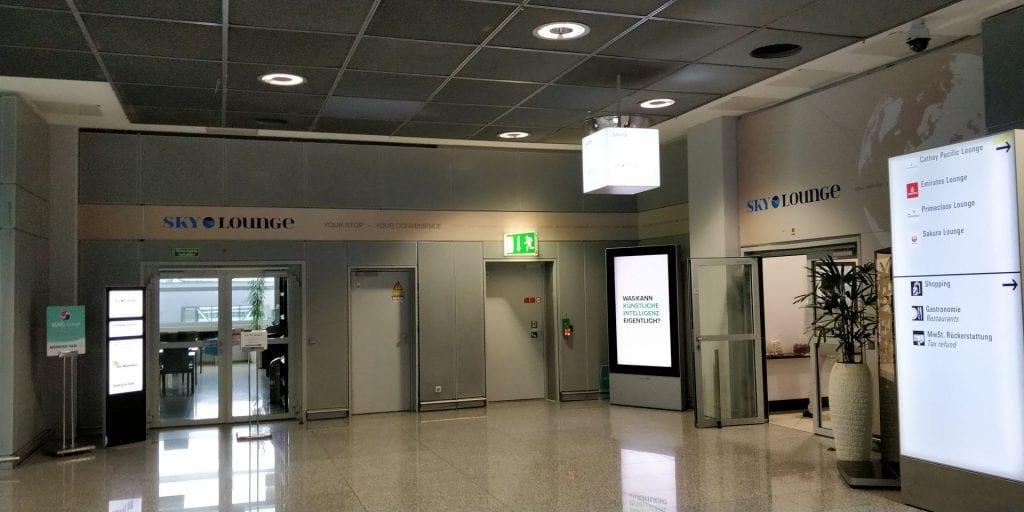 SkyLounge Frankfurt Eingang