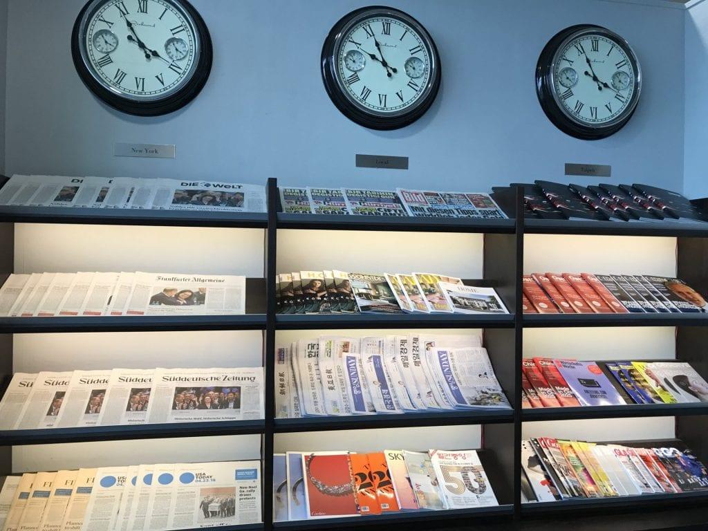 SkyLounge Frankfurt – Zeitschriften