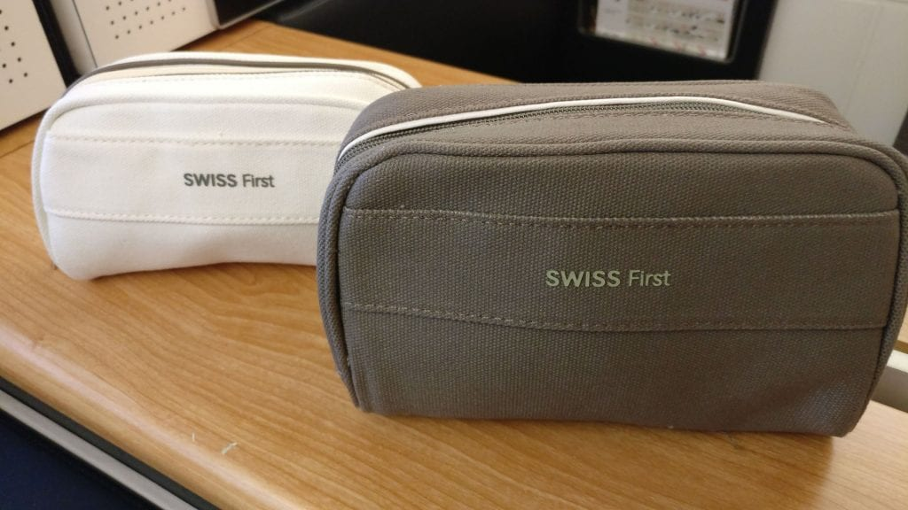 Swiss First Class Boeing 777 Amenity Kit