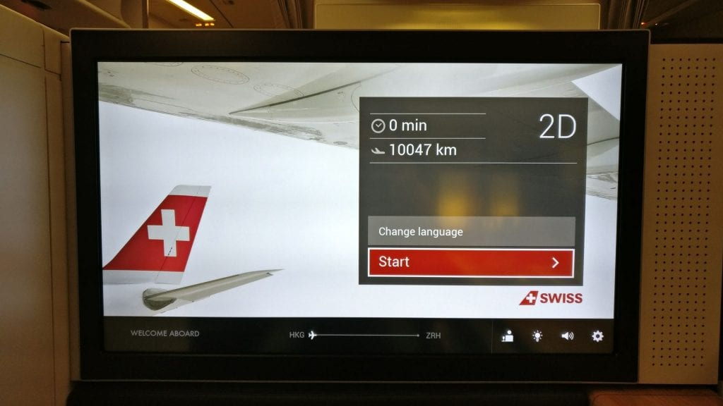 Swiss First Class Boeing 777 Entertainment