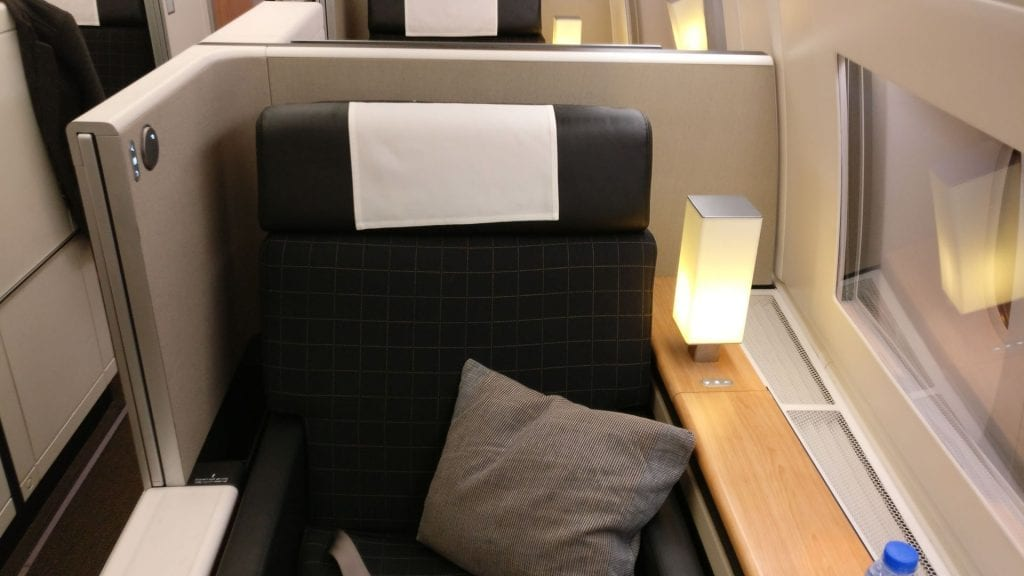 Swiss First Class Boeing 777 Seat 7