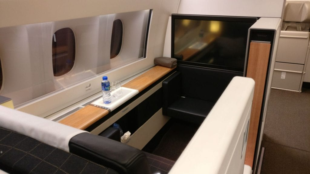Swiss First Class Boeing 777 Seat 8