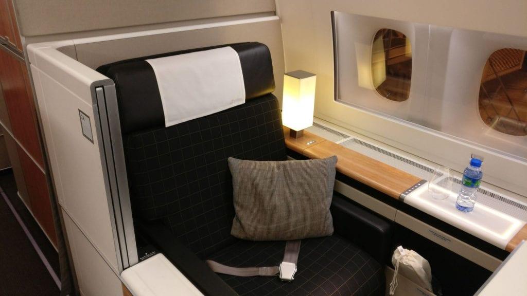 Swiss First Class Boeing 777 Seat 9