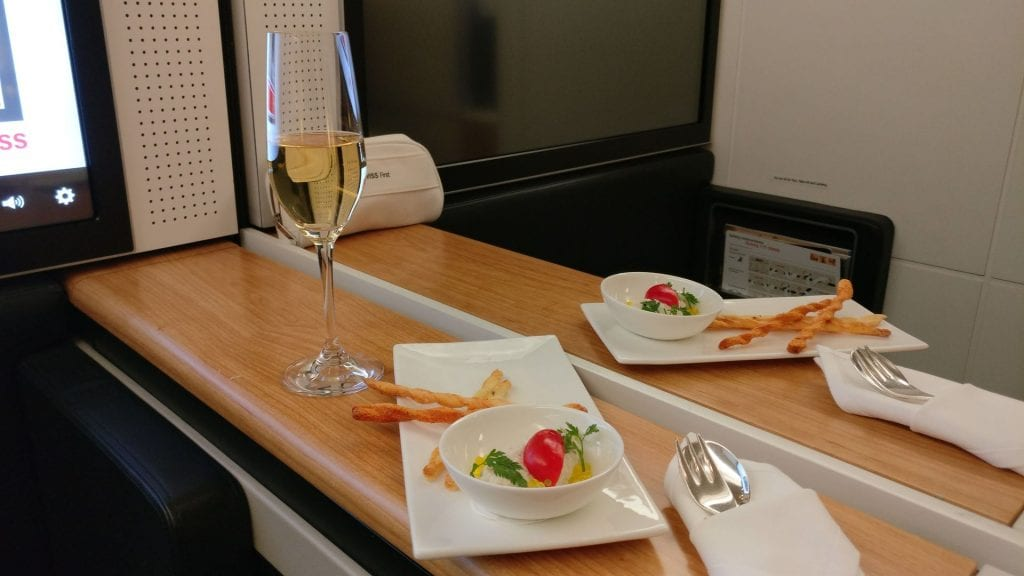 Swiss First Class Boeing 777 Welcome Snack