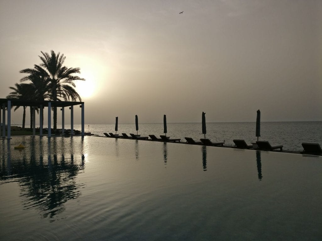 The Chedi Muscat Sunset