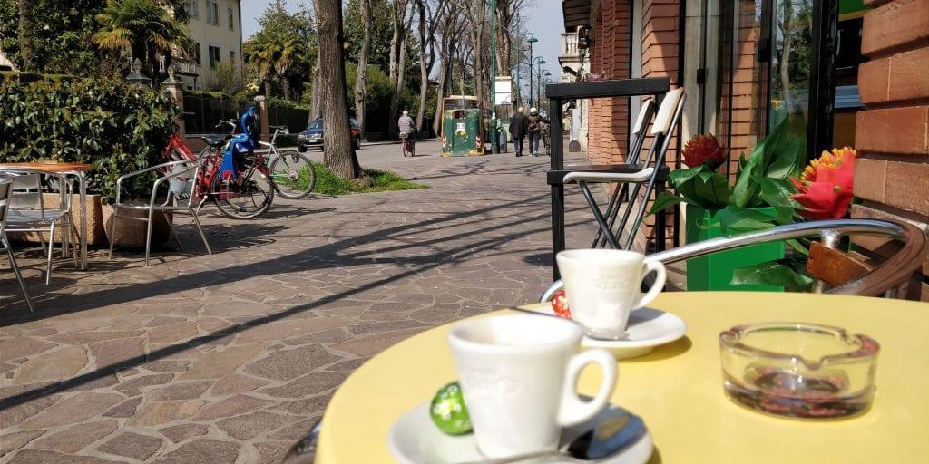 Venedig Espresso Kaffee trinken Italien