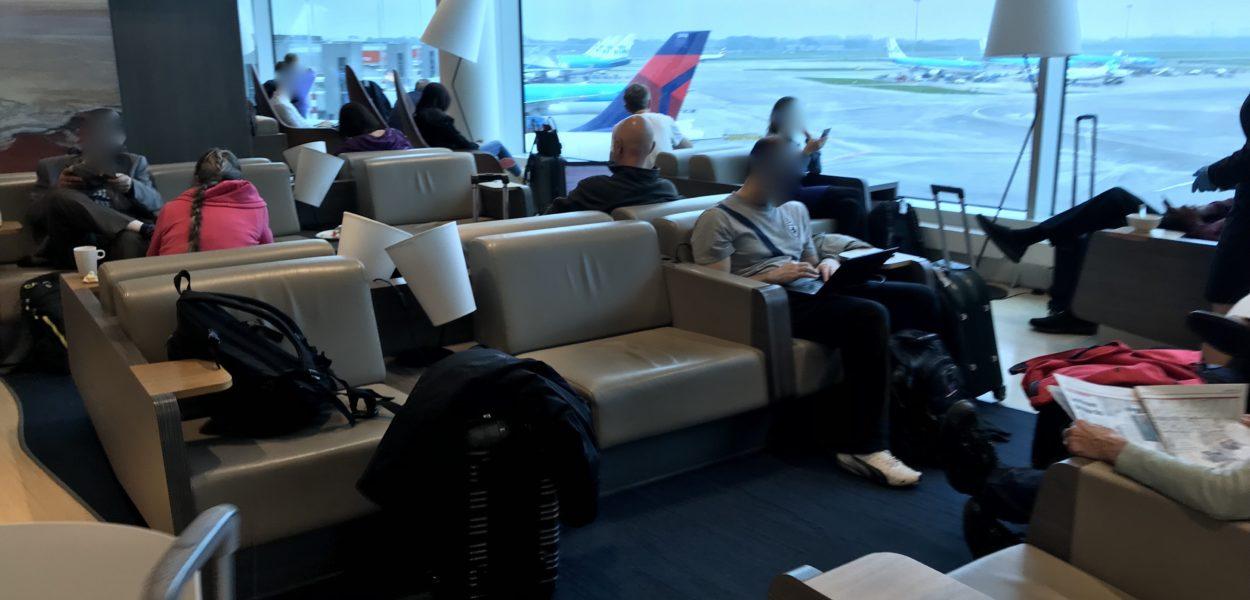 Aspire Lounge Amsterdam Sitzbereich