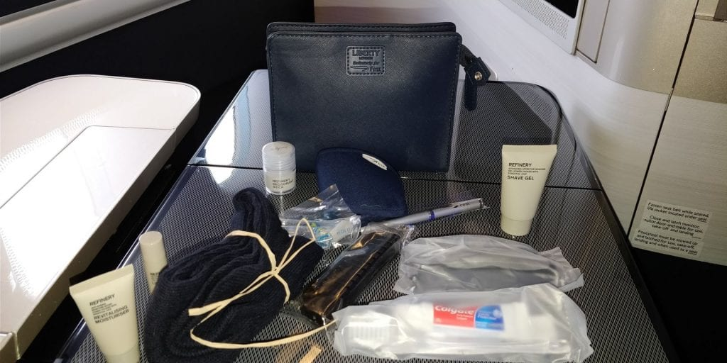 British Airways First Class Boeing 777 Amenity Kit Auswahl