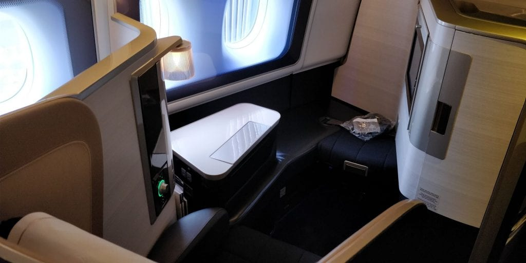 British Airways First Class Boeing 777 Einzelsitz hinten