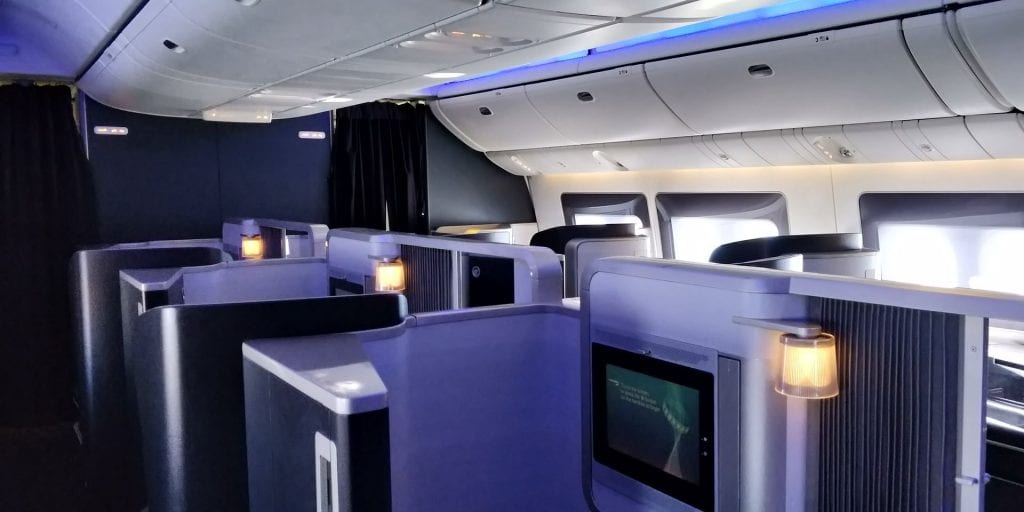 British Airways First Class Boeing 777 Kabine