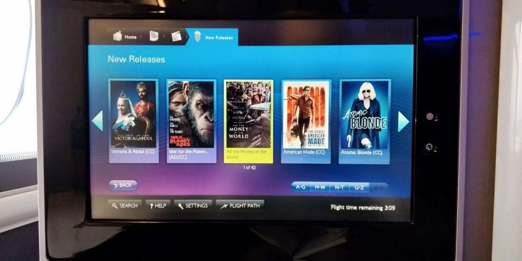 British Airways First Class Boeing 777 TV Filme 2