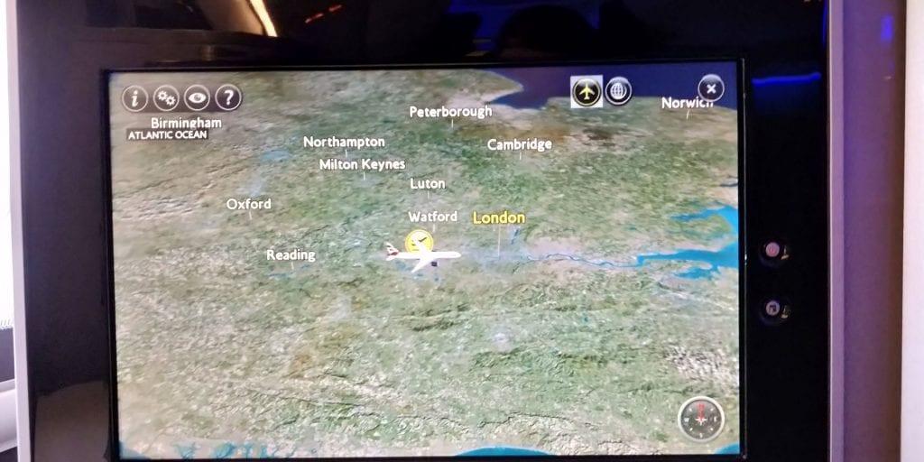 British Airways First Class Boeing 777 TV Karte