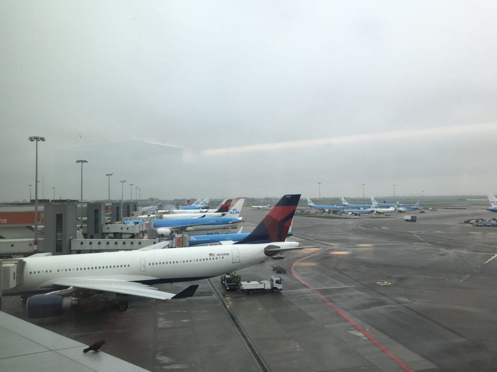British Airways Lounge Amsterdam Ausblick