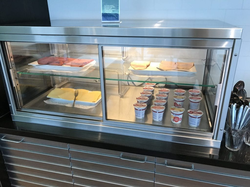 British Airways Lounge Amsterdam Fruehstueck 2